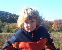 Dylan at Castle Hill Farm October 2008