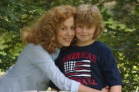 Alison Bevan and son, Dylan