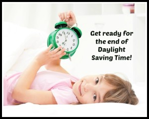 Helping Your Child Adjust To The End Of Daylight Saving Time